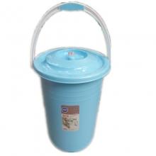 健安 2823 家用特厚带盖手提桶 34cm 颜色随机