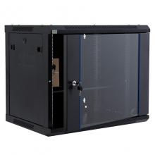 昆普9U网络机柜0.5米 标准19英寸玻璃门600*501*450