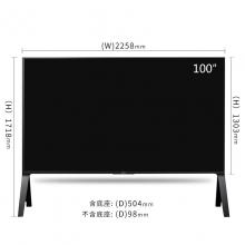 索尼 KD-100Z9D 100英寸 K超高清HDR电视 黑色