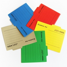 齐心(COMIX) A1810 易分类纸质挂劳夹 A4