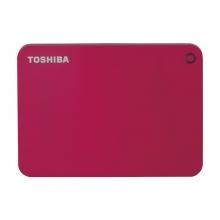 东芝 V9 高端系列 2.5英寸 移动硬盘(USB3.0)1TB(活力红)