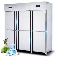 乐创(lecon) 商用冰柜立式  (六门双温)