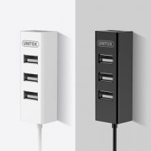 优越者 JD21D0AWH USB2.0高速一拖四多接口分线器 0.3米 白色