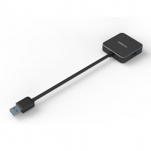 海备思 USB3.0集线器  4口HUB高速拓展(方形款黑色(镁铝合金材质))