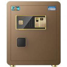 虎牌 英雄系列全钢防盗小型保管柜 入墙45cm(香槟金 指纹+密码款)
