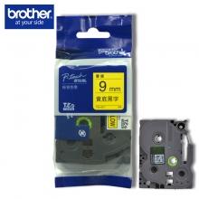 兄弟(brother) 原装彩色覆膜标签色带9MM(TZe-621黄底黑字)