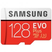 三星(SAMSUNG ) UHS-3 Class10 高速TF卡(Micro SD卡)红色plus升级版+(128GB)