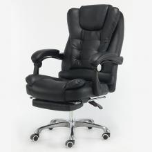 椅拉克 E5011  电脑椅子 黑色带搁脚 钢制脚+按摩