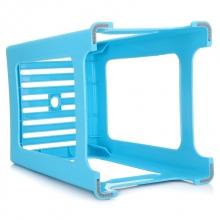 茶花(CHAHUA) 0848 中号塑料条纹凳 30*27.5*35 蓝色