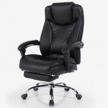绿豆芽 Z-1516-1 皮艺电脑椅 带搁脚 黑色PU皮