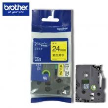兄弟(brother) 原装彩色覆膜标签色带24MM(TZe-651黄底黑字) (TZe-651黄底黑字)