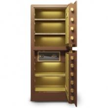 虎牌 150型 铂雅指纹1.5米双门保险柜 咖啡金