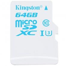 金士顿(Kingston)  90MB/s Class10 UHS-I U3  TF存储卡(64GB)