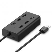 绿联 USB2.0分线器 7口 黑色 1.5米