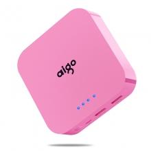 爱国者(aigo) OL10400 双USB输出 移动电源 10000毫安(青春粉)