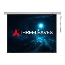三叶100英寸4:3高清玻珠电动投影幕布 投影机幕布 投影幕