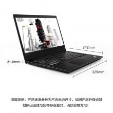 联想(ThinkPad) E480(20KNA00FCD)14英寸轻薄笔记本电脑(Intel,Al BK,I7_8550U,8G,256 SSD,FHD,3Cell_45WH,,No FPR,BLKB,Win10,RX550 2G)