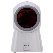 得力(deli) 一二维码扫描枪 条码扫描器超市零售收款  14884(灰色)