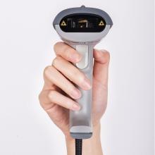 得力(deli)14880 扫描枪扫码枪商品条码枪 有线USB即插即用(白色)