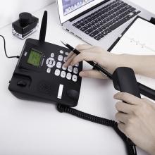 得力(deli)770移动联通SIM插卡电话机(商务黑)