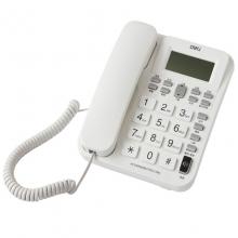得力(deli)788 免电池来电显示座机 时尚免提办公家用电话机(白)