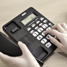 得力 792 来电显示办公家用电话  黑色