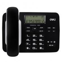 得力(deli)794 免电池来电显示座机 双接口办公家用电话机 (黑色)