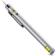 得力(deli) 3933 钢笔造型便携式激光笔/无线演示器 银