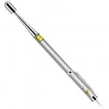 得力(deli)3934 可伸缩激光教鞭 便携式激光笔/无线演示器 银色 红光