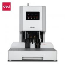 得力(deli) 自动财务凭证装订机 电动档案文件打孔机(白色) 可装订35mm 14608