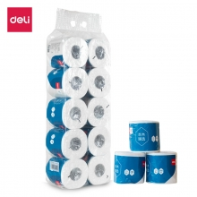 得力(deli) WJ3245-01卫生卷筒纸 卷纸 3层245断/卷 10卷/提