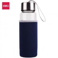 得力(deli)8984 安全材质随手杯/玻璃杯/时尚简约运动水杯420ml