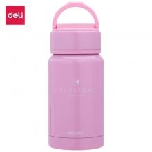 得力(deli) 8994 不锈钢保温水杯 190ML粉红色
