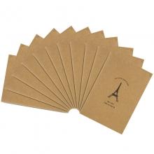 得力(deli) FA54003 A5/40页牛皮纸缝线软抄本 办公记事本 文具笔记本