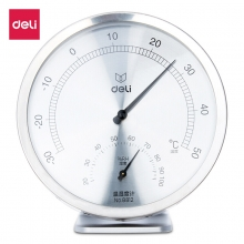 得力(deli)室内办公温湿度计 圆盘大号婴儿房温湿度表 8812