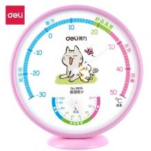 得力(deli)8804 卡通温湿度计  可立放可悬挂 粉色