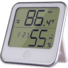 得力(deli) 温度计 挂壁式温度计/温湿度计  电子款 8959
