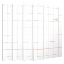 得力(deli) FB560-01JY B5/60页 方寸格 系列缝线软抄本 记事本 蓝色