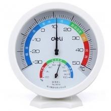 得力(deli) 9016室内外温湿度计家用温度计  白色