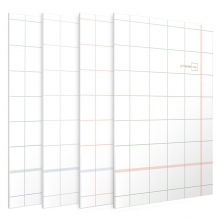 得力 (deli)  FB560-01JY B5/60页 方寸格系列 缝线软抄本 记事本 蓝色