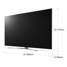 LG 86SJ9570 86英寸哈曼卡顿 主动式HDR 无边硬屏纤薄机身 智能电视(银色+白色)