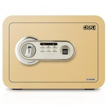 得力(deli)33473 指纹电子密码保管箱 高25cm 金色