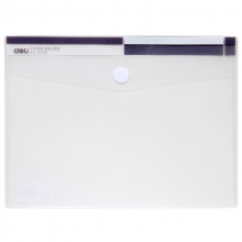得力 (deli)  5504 A4 透明粘扣文件袋