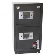得力 (deli) 3616 双门保险箱 3C认证电子密码防盗保险柜 灰色