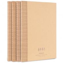 得力(deli)FB560-01NP-4 牛皮纸系列缝线软抄本  4本B5/60页