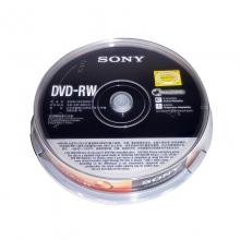 索尼(SONY) DVD-RW 可擦写光盘 容量4.7GB 10 片/筒