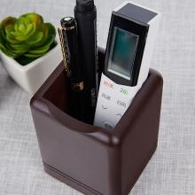 汇星文具 时尚创意木质笔筒办公用桌面文具收纳遥控器广告礼品促销赠品