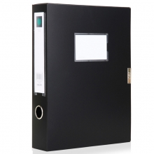 得力(deli) 5604 档案盒 A4 资料盒 7.5cm 办公用品 黑色1只装