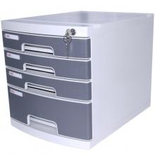 得力(deli) 8854 四层塑料桌面文件柜(带锁)