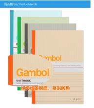 渡边(Gambol) G6507/G6503 B5 50页无线胶装笔记本 图案随机